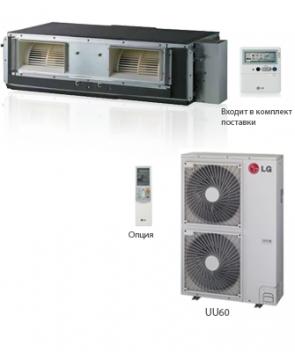 Канальный кондиционер LG UB60/UU60